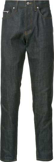Naked And Famous , Straight Jeans Men Cotton 31, Blue