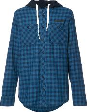 Prps , Checked Buttoned Hoodie Men Cotton M, Blue