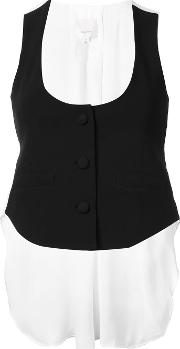 Cinq A Sept , Back Bow Tank Top Women Triacetatepolyester S, Black