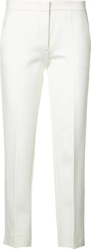 Derek Lam , Cigarette Trousers Women Elastodienepolyamideviscose 40, White