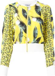Cacharel , Pineapple Print Bomber Jacket Women Silk 36
