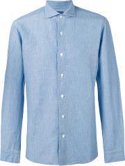 Barba , Buttoned Shirt Men Cotton 40, Blue