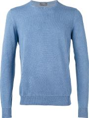Barba , Longsleeve Sweater Men Cotton 52, Blue