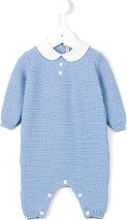 Little Bear , Knitted Romper Kids Virgin Wool 1 Mth, Blue