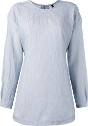 Sara Lanzi , Back Button Shirt Women Cotton M, Blue