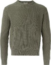 Egrey , Knitted Sweater Men Cotton P, Green