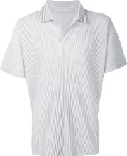 Homme Plisse Issey Miyake , Pleated Polo Shirt Men Recycled Polyester 4, Grey