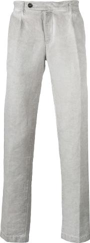 Massimo Alba , Faded Straight Leg Trousers Men Cottonlinenflax 46, Grey