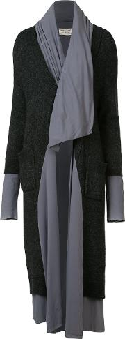Sabine Luise , Two Layers Long Coat Women Rayon One Size, Grey