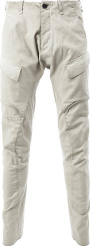 Masnada , Fitted Tapered Trousers Men Cottonspandexelastane 48, Nudeneutrals