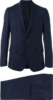 Caruso , Slim Cut Suit Men Cuprowoolbemberg 52, Blue