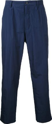 08sircus , Straight Cropped Trousers Men Cottonpolyester 4, Blue