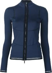 Callens , Long Sleeve Zip Top Women Cottonpolyamidespandexelastane S, Blue