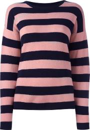 Chinti And Parker , Cashmere Striped Jumper Women Cashmere Xs, Pink