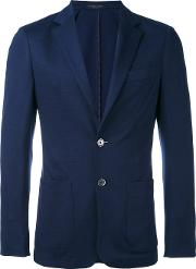 Corneliani , Patch Pocket Blazer Men Virgin Woolpolyester 52, Blue