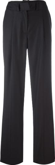 Courreges , Straight Leg Trousers Women Cuprowool 42, Blue
