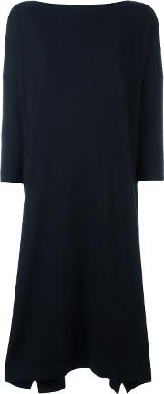Daniela Gregis , Flared Dress Women Cotton One Size, Blue