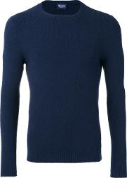 Drumohr , Crew Neck Top Men Cottonsilkcashmere 48, Blue
