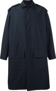 E Tautz , E. Tautz Car Raincoat Men Silkcottonwool M, Blue