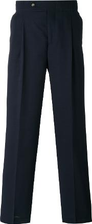 Editions Mr , Editions M.r High Waisted Trousers Men Polyestervirgin Wool 46, Blue