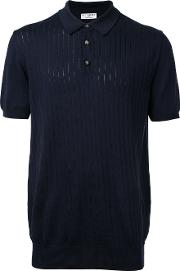 Editions Mr , Editions M.r Ribbed Polo Shirt Men Cotton L, Blue