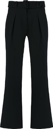 Egrey , Flared Trousers Women Polyester 40, Black