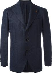 Gabriele Pasini , Embroidered Blazer Men Linenflaxviscose 48, Blue
