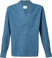 Ikiji , Hanjuban Kimono Shirt Men Cotton M, Blue