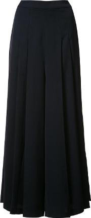 Just Female , Pleated Palazzo Pants Women Polyester L, Blue