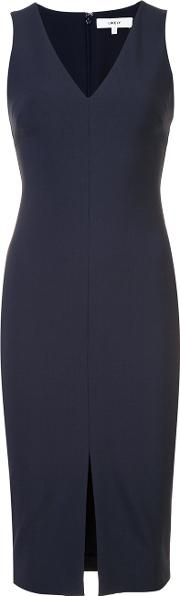 Likely , V Neck Fitted Dress Women Polyesterspandexelastanerayon 4, Blue