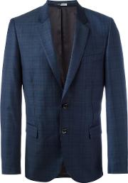 Ps By Paul Smith , Woven Check Blazer Men Viscosewool 36, Blue