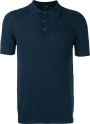 Roberto Collina , Classic Polo Top Men Cottonpolyamide 48, Blue