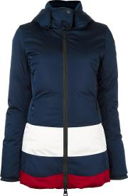 Rossignol , Colour Block Padded Jacket Women Feather Downpolyamidepolyester Xl, Blue