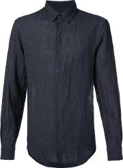 Tomorrowland , Button Up Shirt Men Linenflax L, Blue