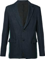 Tomorrowland , Notched Lapel Blazer Men Cottonlinenflaxpaper 48, Blue