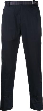 Wooyoungmi , Cropped Tailored Trousers Men Cottonpolyester 50, Blue