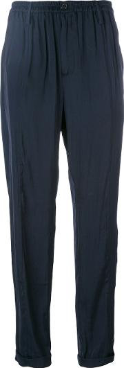 Wunderkind , Silky Cropped Trousers Women Polyester 34, Blue