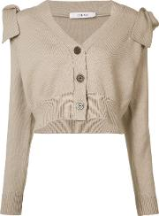 Adeam , Cropped Cardigan Women Cottonpolyester S, Women's, Nudeneutrals