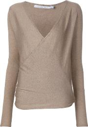 Callens , Wrap Jumper Women Cashmere S, Women's, Brown