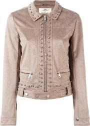 Urbancode , Studded Cropped Jacket Women Polyester 10, Brown