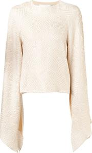 Christian Siriano , Cape Top Women Silk 6, Women's, Nudeneutrals