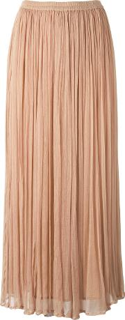 Mes Demoiselles , Loose Pleat Long Skirt Women Viscose 36, Women's, Nudeneutrals