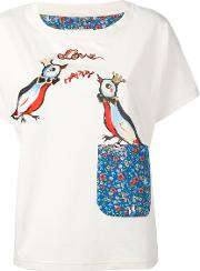 Tsumori Chisato , Love Birds T Shirt Women Cotton 3, Women's, Nudeneutrals