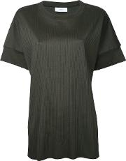 Astraet , Ribbed T Shirt Women Cotton One Size, Green