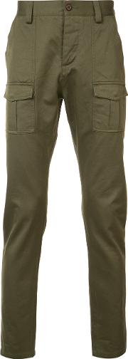 Wingshorns , Wings Horns Thighs Pockets Skinny Trousers Men Cotton 34, Green