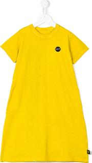 Nununu , Brush Stroke Print Dress Kids Cotton 2 Yrs, Toddler Girl's, Yelloworange