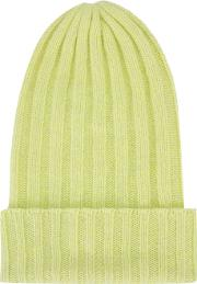 The Elder Statesman , Cashmere Ribbed Beanie Unisex Cashmere One Size