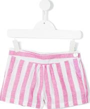 Little Bear , Striped Shorts Kids Linenflax 10 Yrs, White