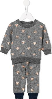 Simple Kids , Panther Print Tracksuit Kids Cottonpolyester 18 Mth, Grey