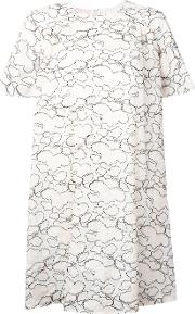 Giamba , Abstract Embroidery T Shirt Dress Women Cottonpolyester 40, Nudeneutrals